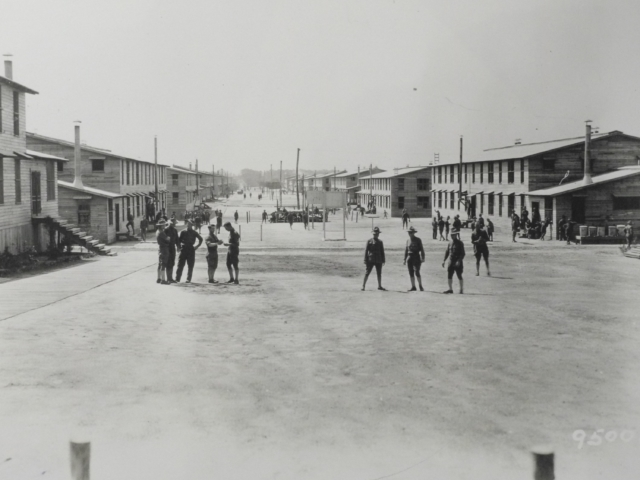 Street scene, Camp Meade, April 1919 (AHEC)