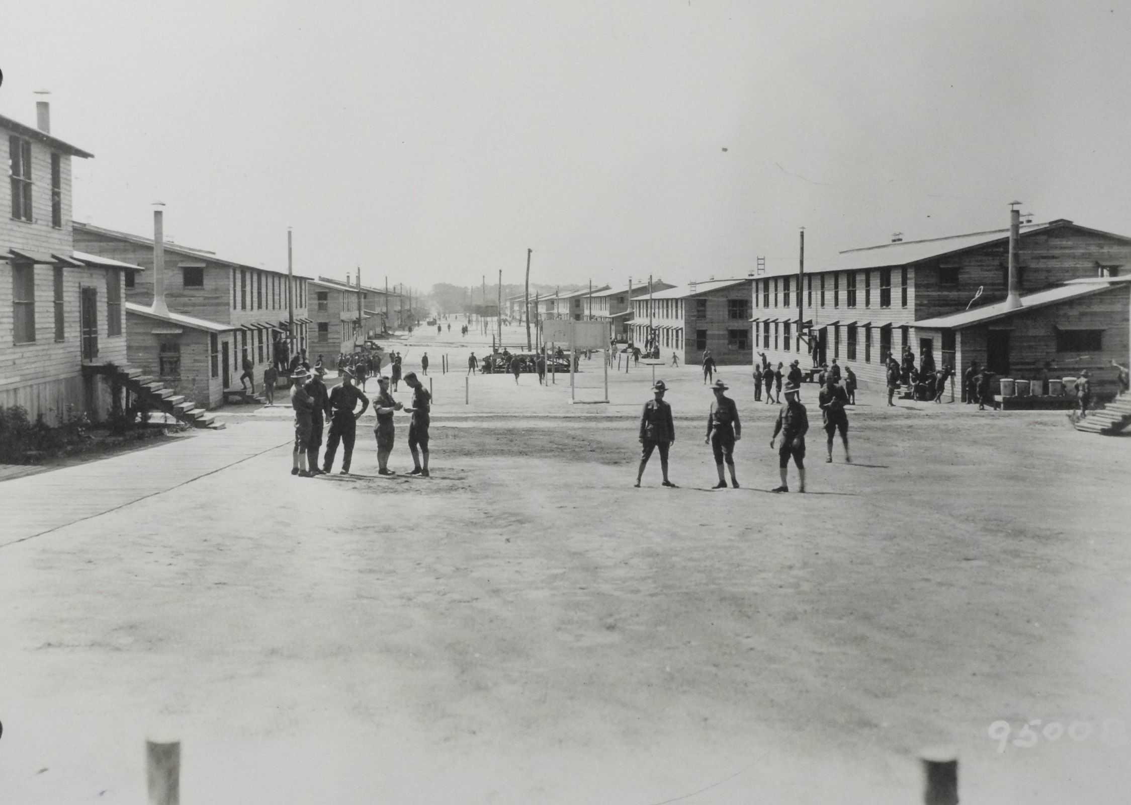 Street scene, Camp Meade, April 1919 (AHEC)
