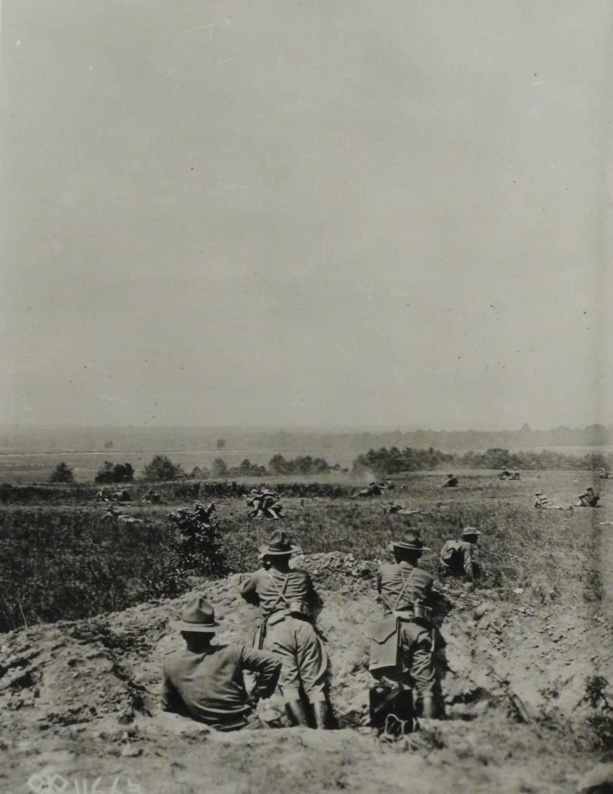 Troops in field maneuvers, Camp Meade (AHEC)
