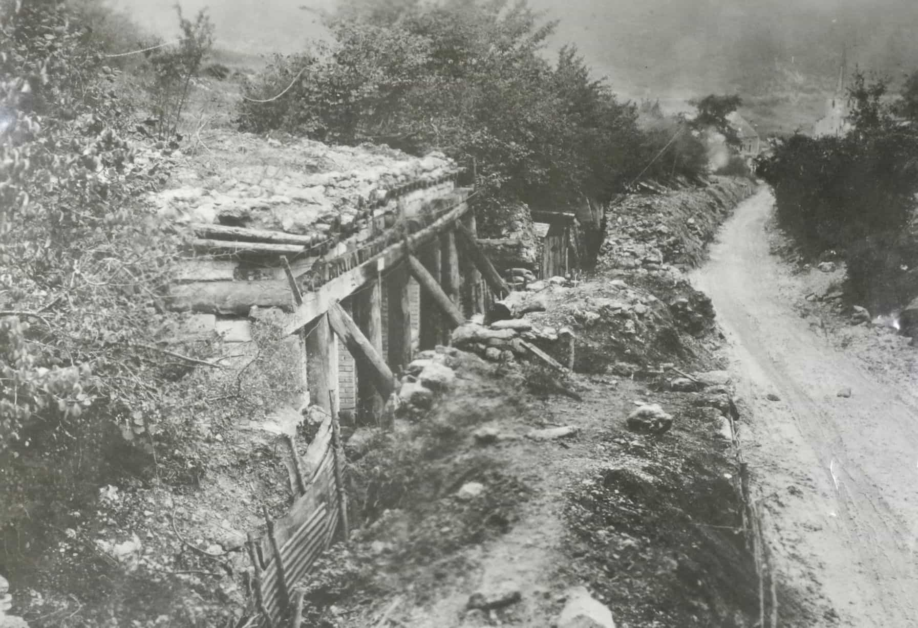 Dugout used as the PC of the 157th Brigade, Troyon sector (AHEC)