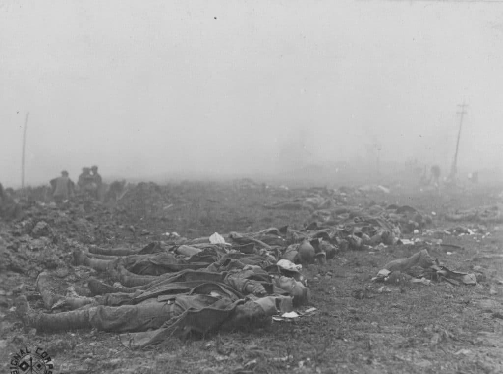 Dead of the 79th Division near Molleville Farm (NAMD)