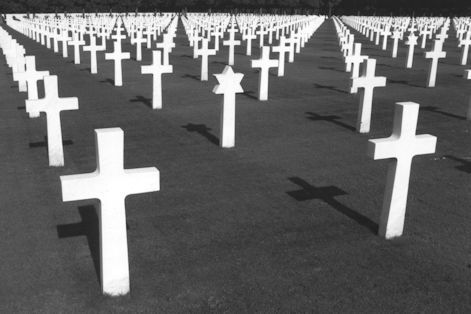 The American cemetery at Romagne-sous-Montfaucon.  Among its 14,000 graves lie many of the dead of the 79th Division. (author)