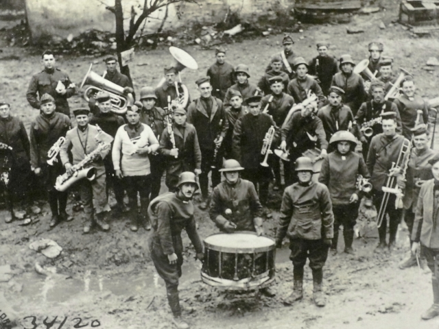 The band of the 315th Infantry celebrates the Armistice (AHEC)