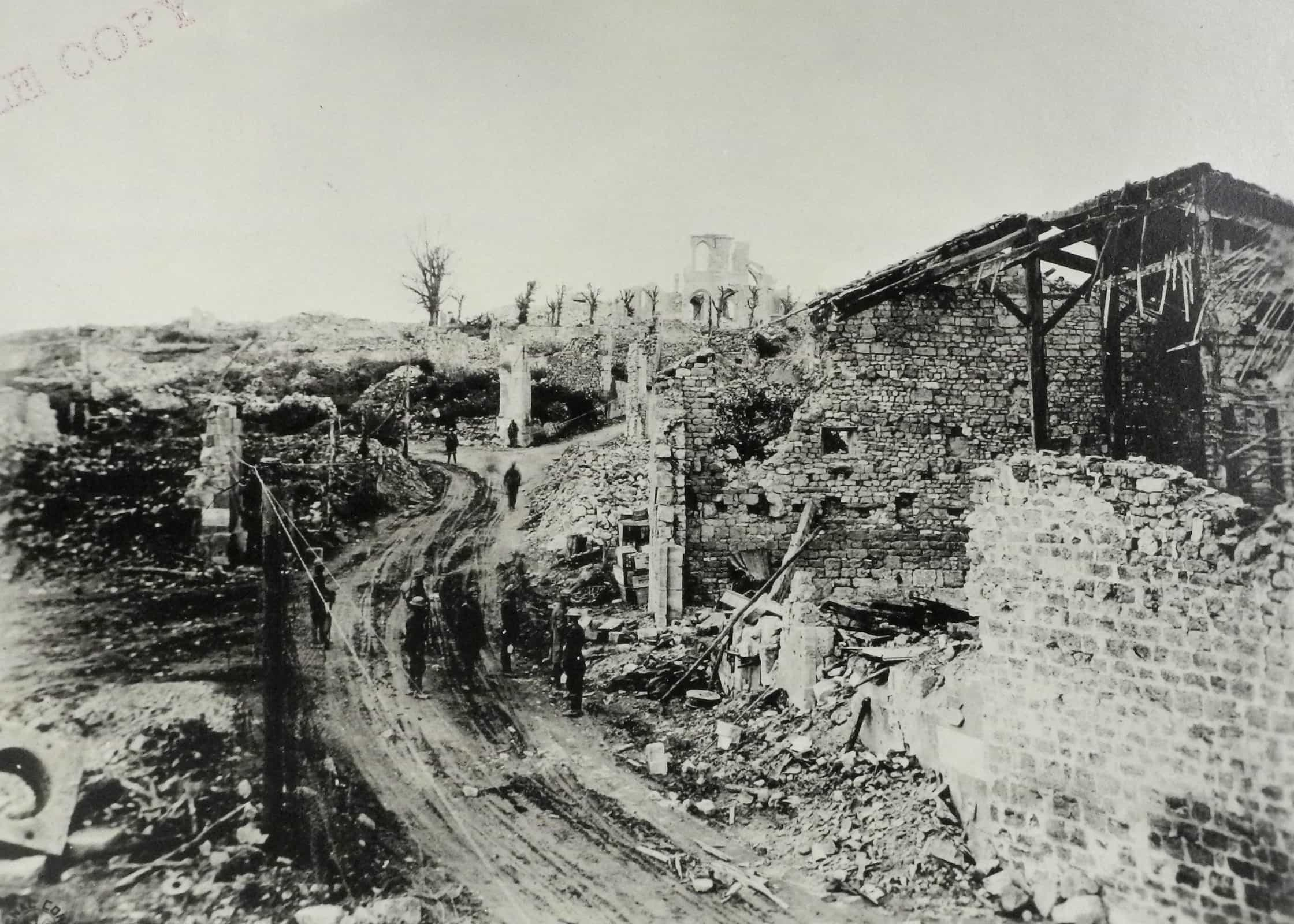 Ruins of Montfaucon five days after its capture. (AHEC)